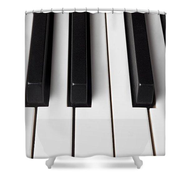 Piano Keys Close Up Shower Curtain
