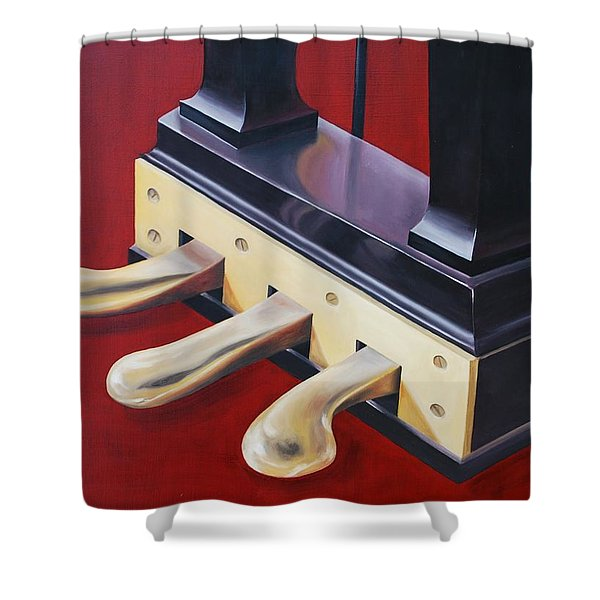 Piano Pedals Shower Curtain