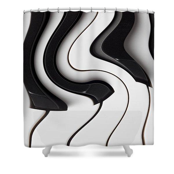 Piano Surrealism  Shower Curtain