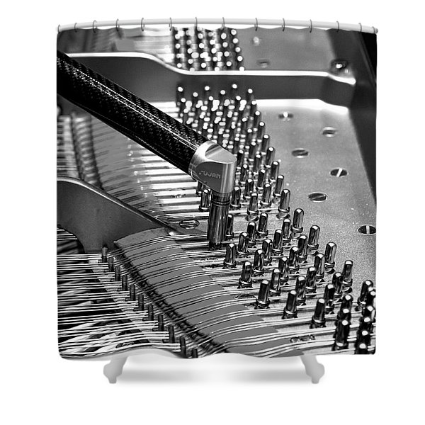 Piano Tuning Bw Shower Curtain