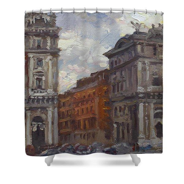 Piazza Della Repubblica Rome Shower Curtain