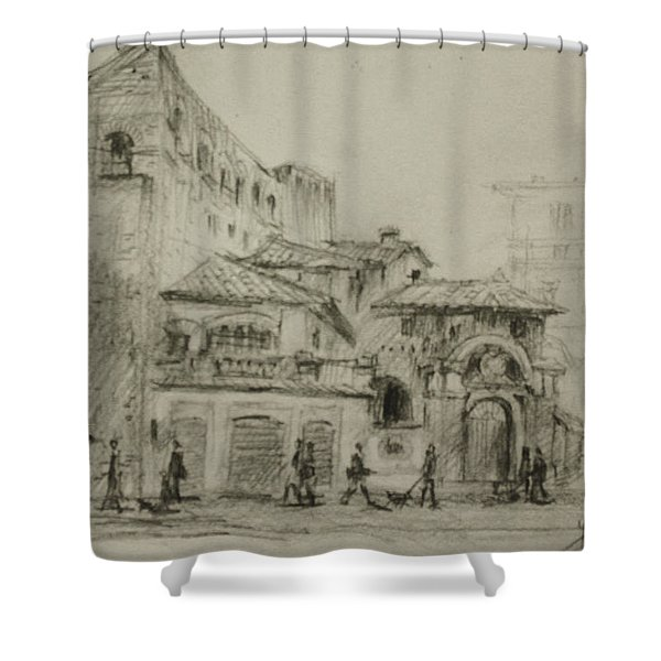 Piazza Fiume Rome Shower Curtain