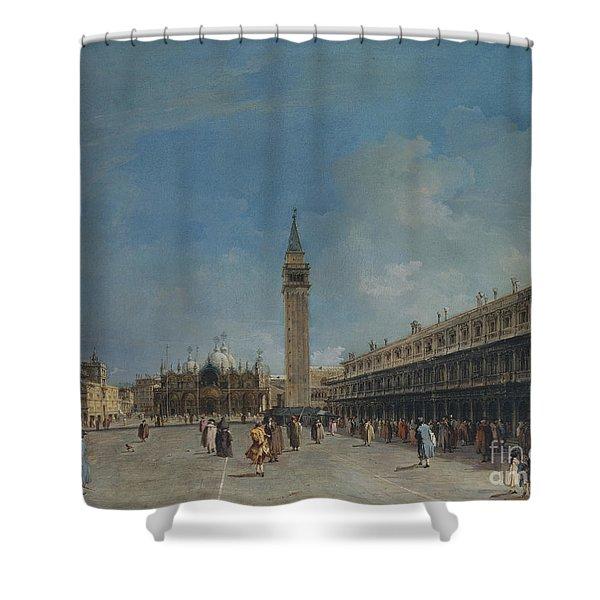 Piazza San Marco, 1760 Shower Curtain