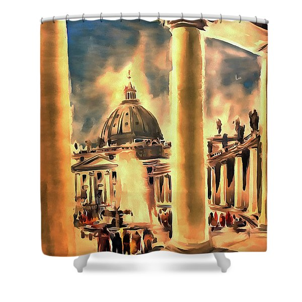 Piazza San Pietro In Roma Italy Shower Curtain