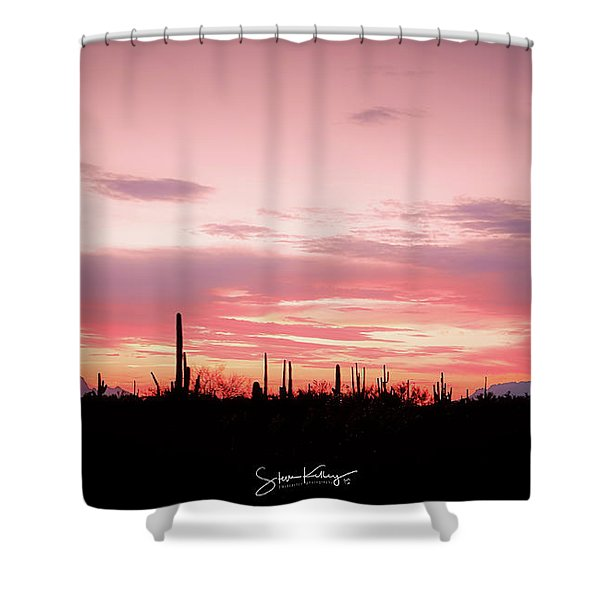 Picacho Sunset Shower Curtain