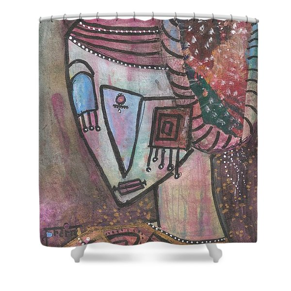 Picasso Inspired Shower Curtain