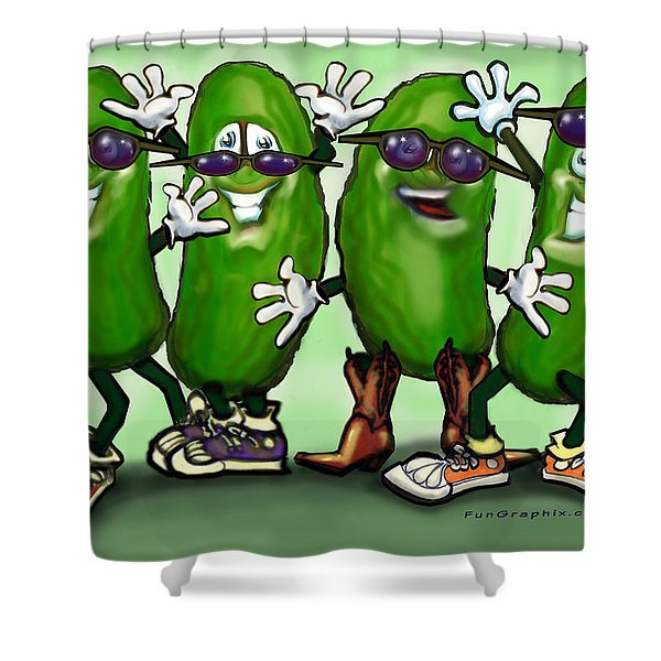 Pickle Party Shower Curtain