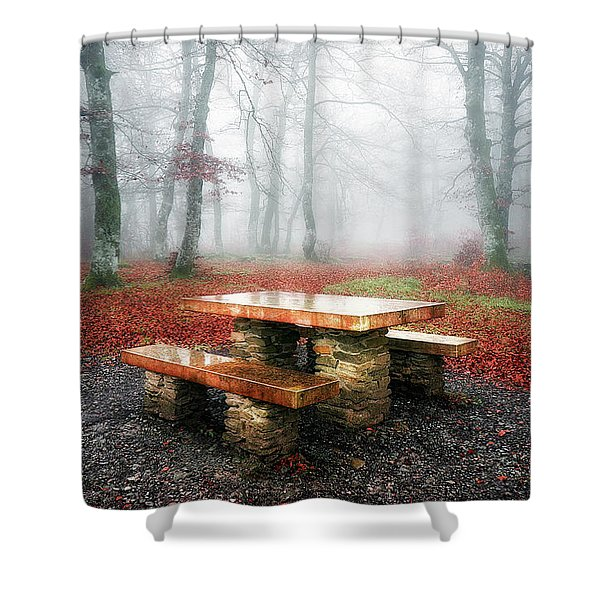 Picnic Of Fog Shower Curtain