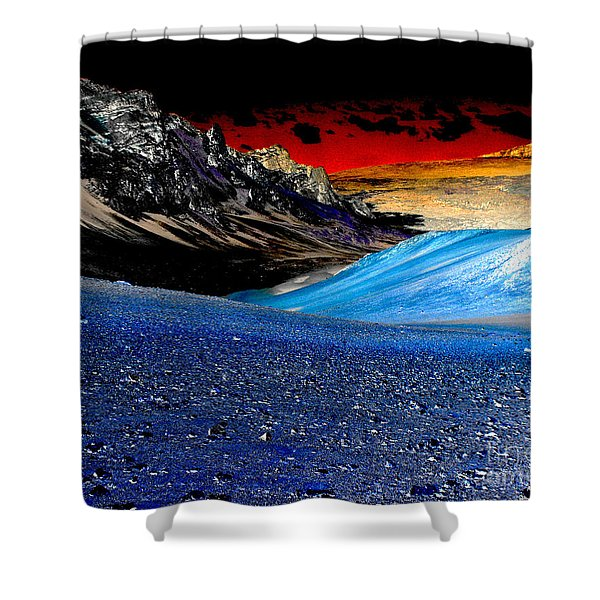 Pictures From Venus Shower Curtain by Rebecca Margraf