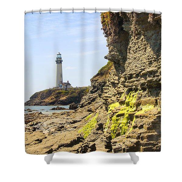 Pidgeon Point Lighthouse Shower Curtain