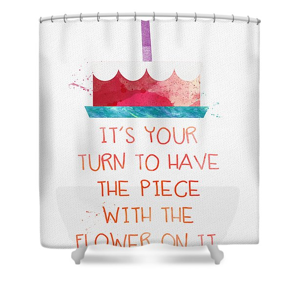 Piece Of Cake- Card Shower Curtain