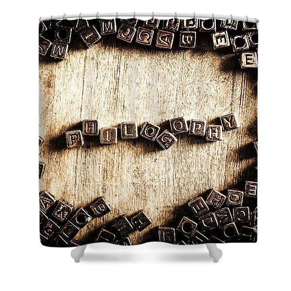 Piecing Together Philosophy Shower Curtain