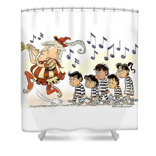 Pied Piper Trump And Infestation Shower Curtain