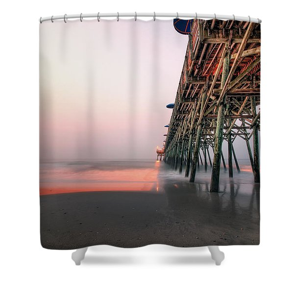 Pier And Surf Shower Curtain