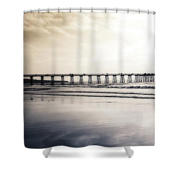 Pier On Duotone Shower Curtain