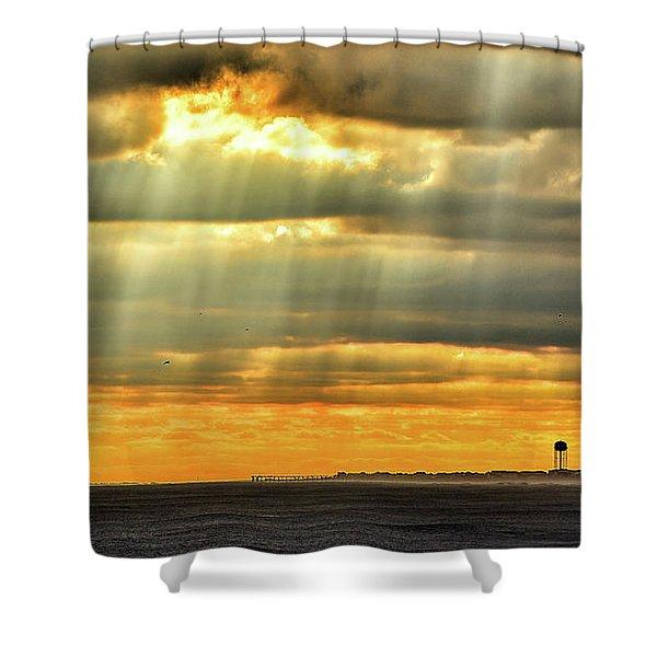Pier Rays Shower Curtain