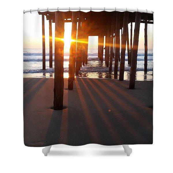 Pier Shadows Shower Curtain