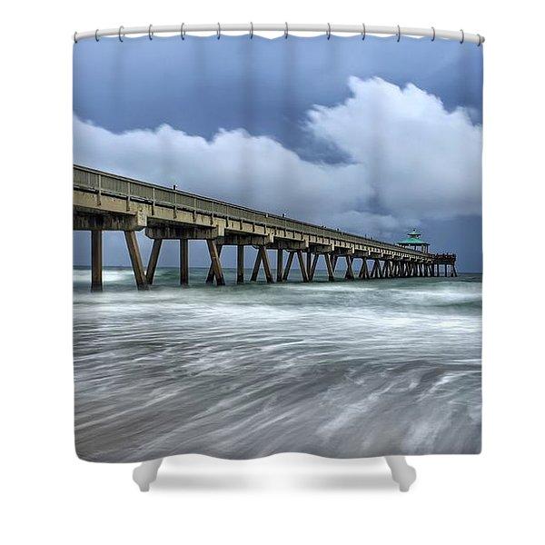 Pier Time Lapse Shower Curtain
