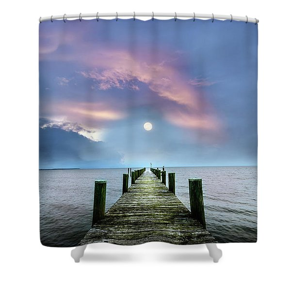 Pier To The Moon Shower Curtain