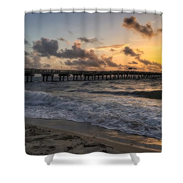 Pier Waves Shower Curtain