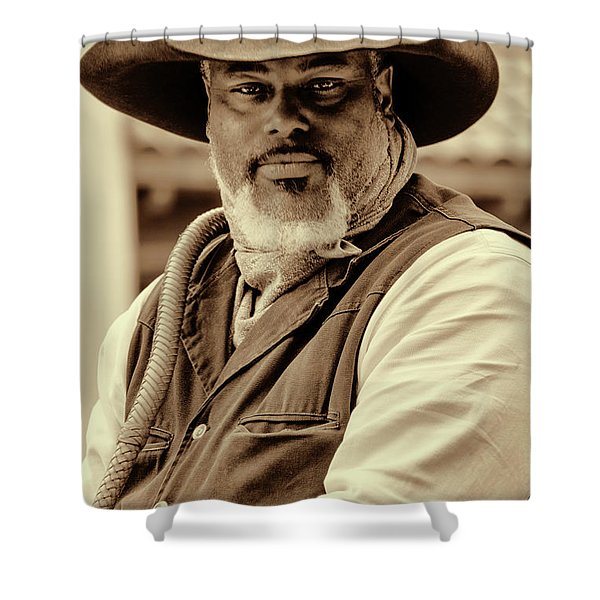 Piercing Eyes Of The Cowboy Shower Curtain