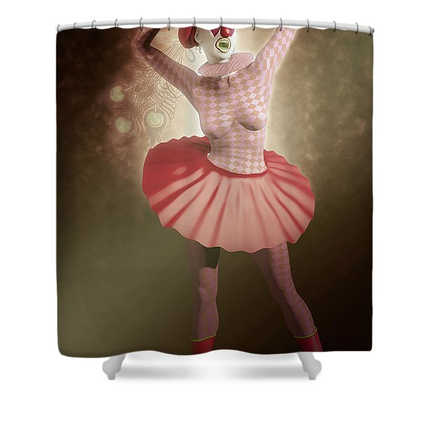 Pierrette Of The Red Passion Shower Curtain