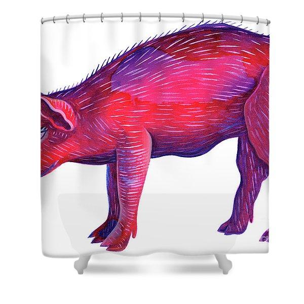 Pig Shower Curtain