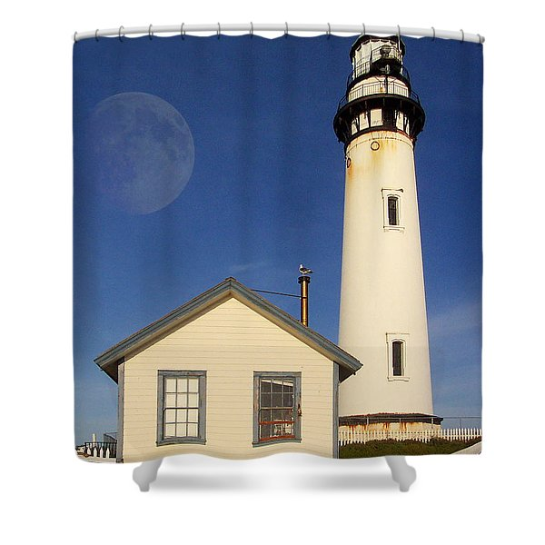 Pigeon Point Lighthouse Shower Curtain by Wingsdomain Art and Photography