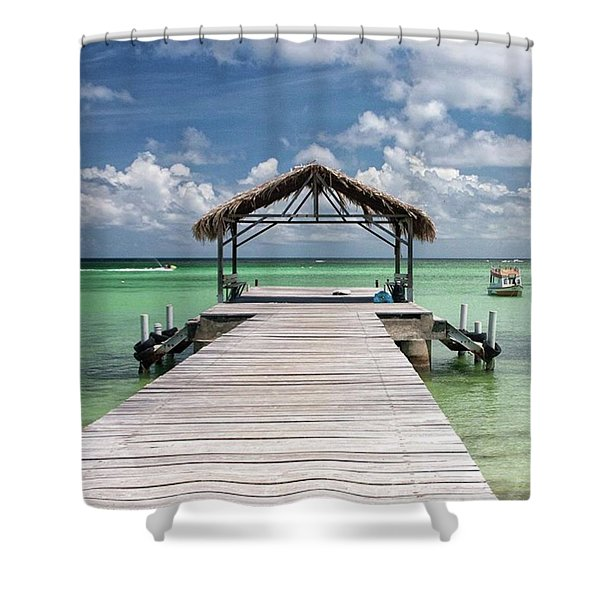 Pigeon Point, Tobago#pigeonpoint Shower Curtain