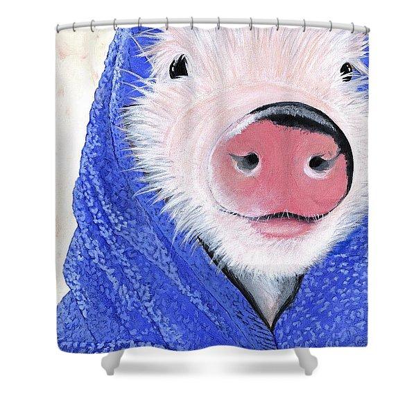 Piglet In A Blanket Shower Curtain