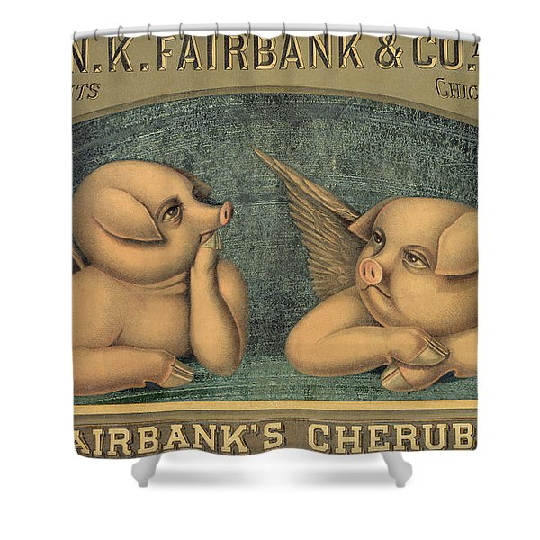 Pigs With Wings Shower Curtain