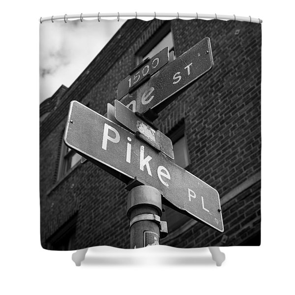 Pike Place Seattle Shower Curtain