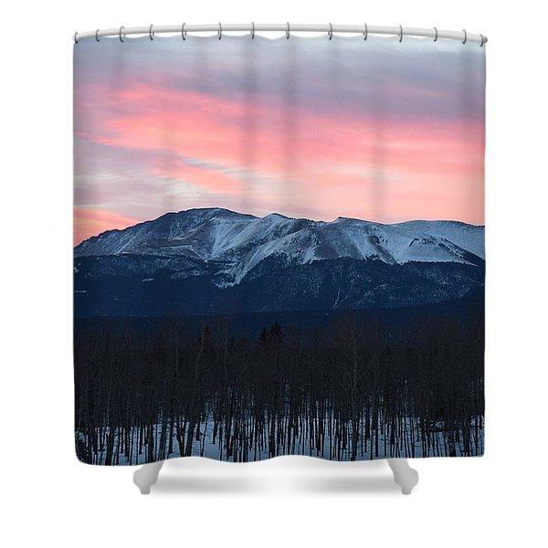 Sunrise Pikes Peak Co Shower Curtain