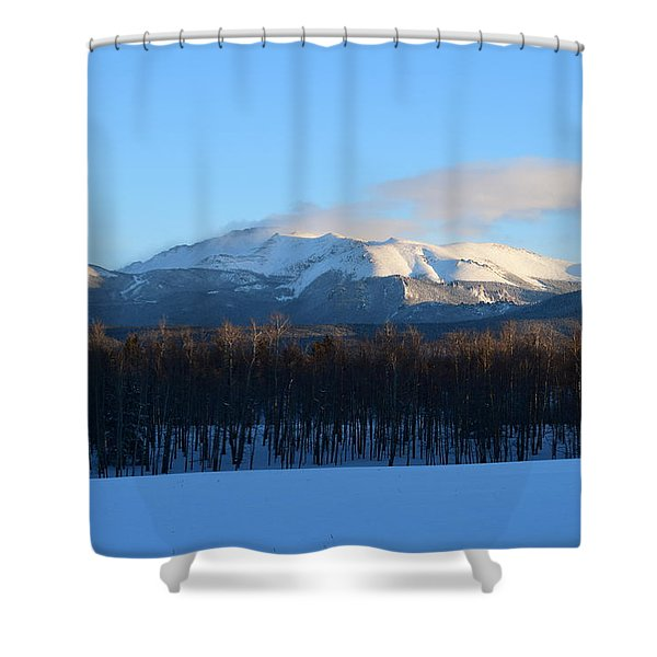 Pikes Peak From Cr511 Divide Co Shower Curtain