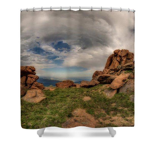 Pikes Peak Panorama Shower Curtain