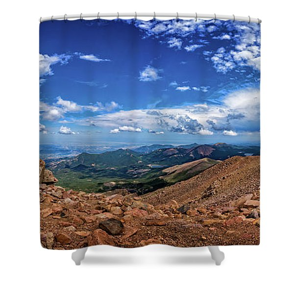 Pikes Peak Summit Vista #2 Shower Curtain