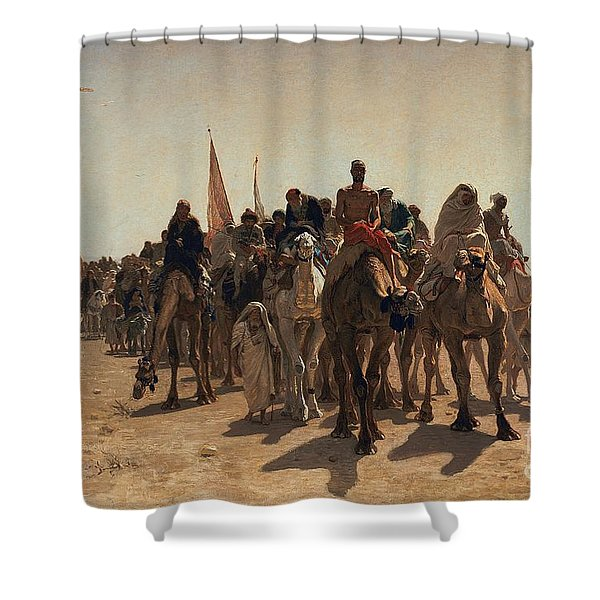 Pilgrims Going To Mecca Shower Curtain