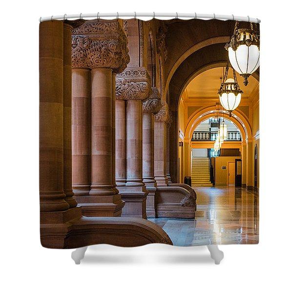 Pillar Hallway Shower Curtain