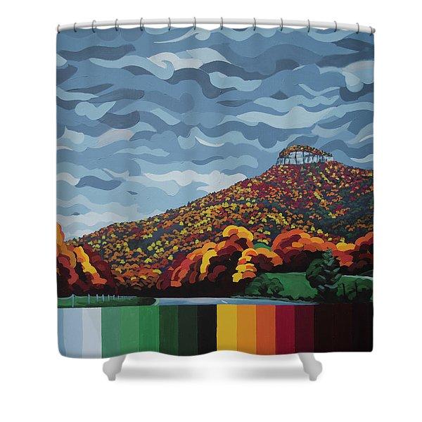 Pilot Mountain Fall Shower Curtain