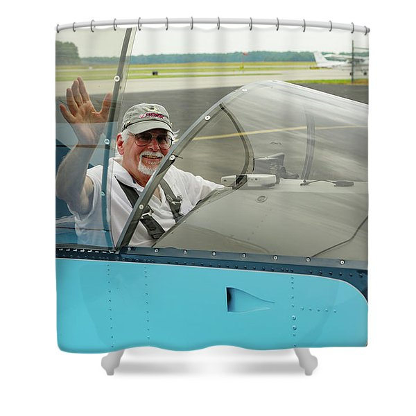 Pilot Vic Vicari Shower Curtain