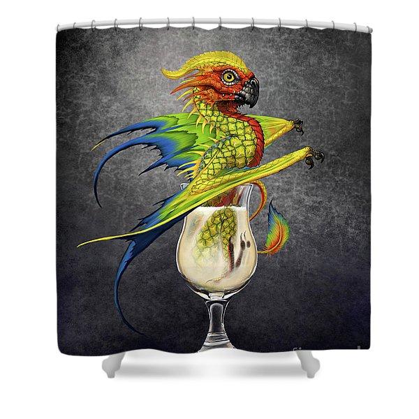 Pina Colada Dragon Shower Curtain