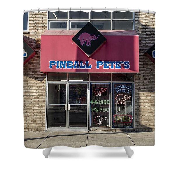 Pinball Pete's East Lansing  Shower Curtain