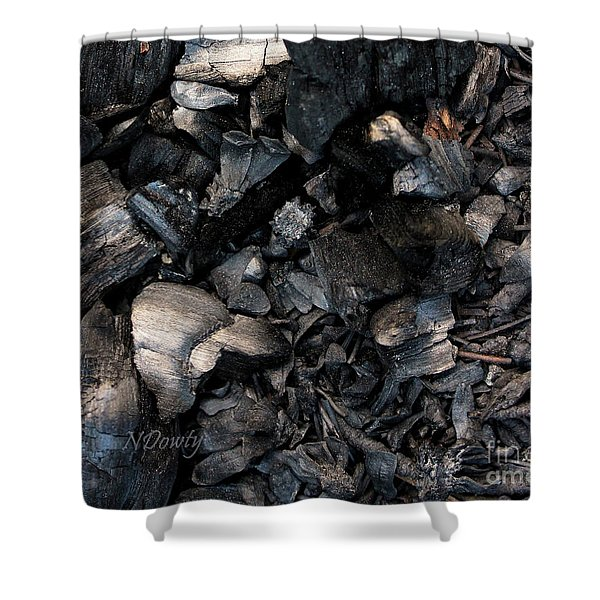 Pine Cone Cinders Shower Curtain
