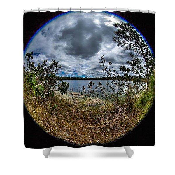 Pine Glades Lake 18 Shower Curtain