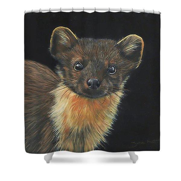 Pine Marten Shower Curtain