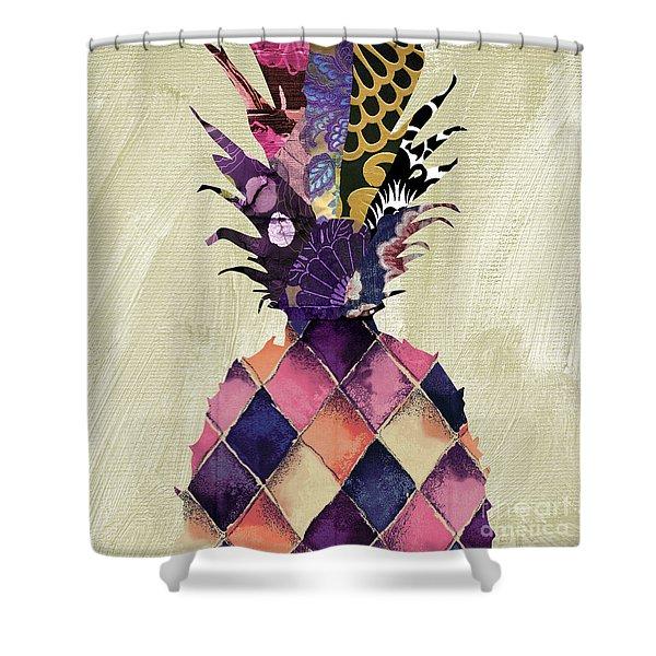 Pineapple Brocade II Shower Curtain