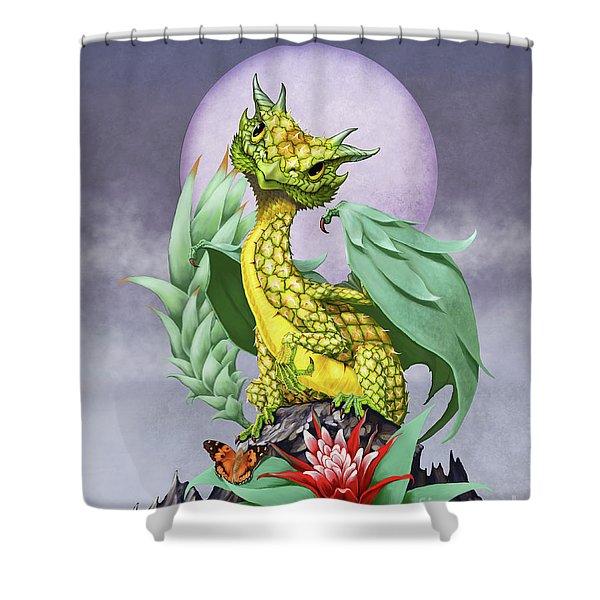Pineapple Dragon Shower Curtain