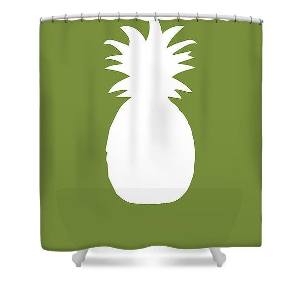 Pineapple Food Art Minimalist Fruit Poster Series 010 Shower Curtain