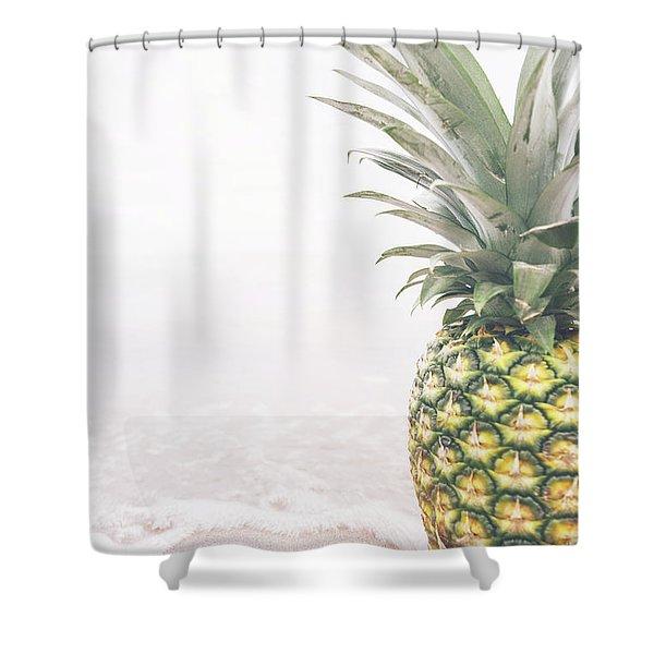 Pineapple On The Beach Shower Curtain