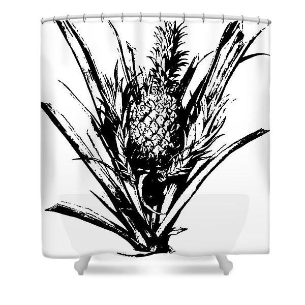 Pineapple Plant With Fruit Shower Curtain
